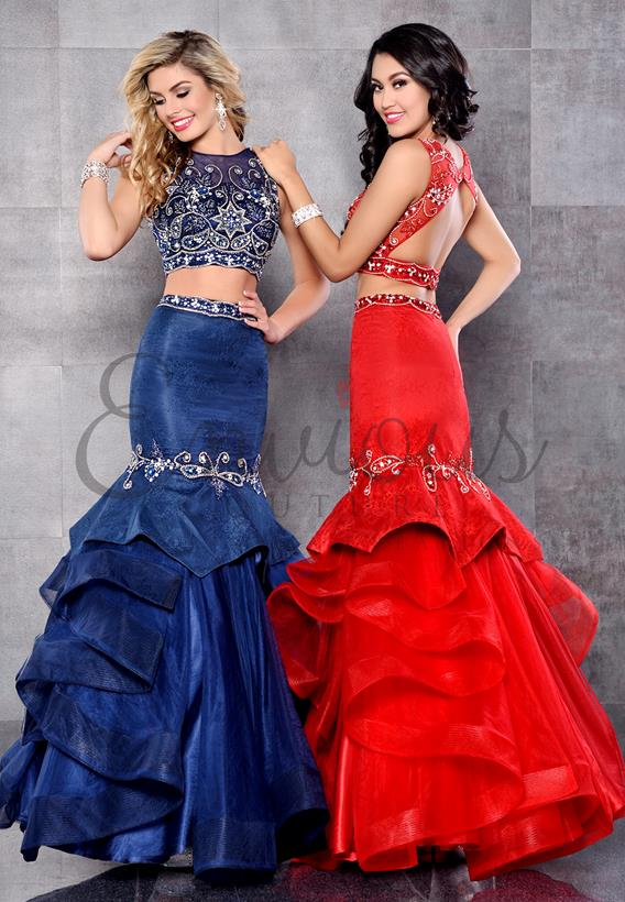 Lace/Tulle Red,Navy 17288