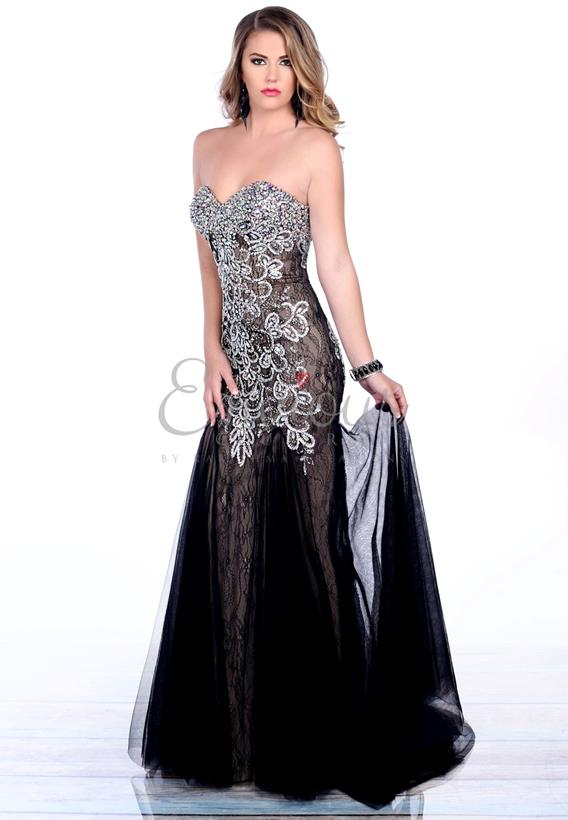BEADED TULLE RED,BLACK,NUDE,COBALT 3696
