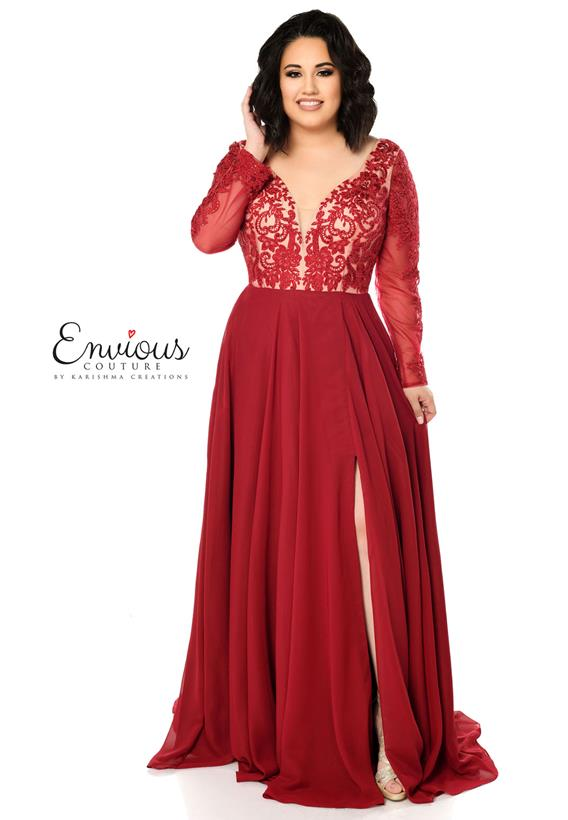 Embroidered Tulle Chiffon Burgundy,Black E1237