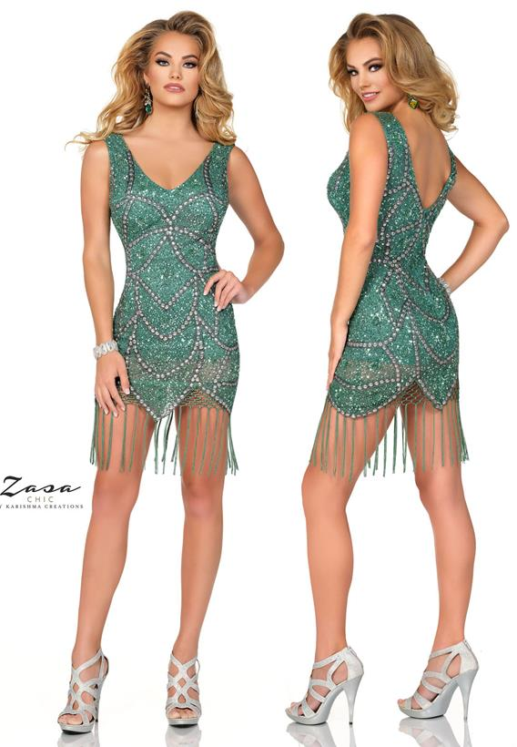 Beaded Tulle Spruce Green K2023