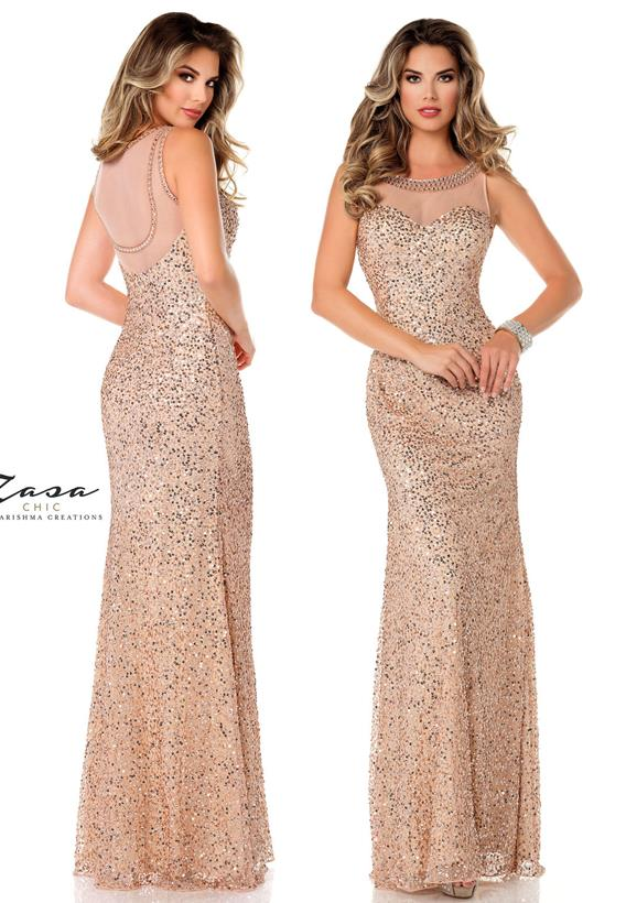 Beaded Tulle Nude K2049