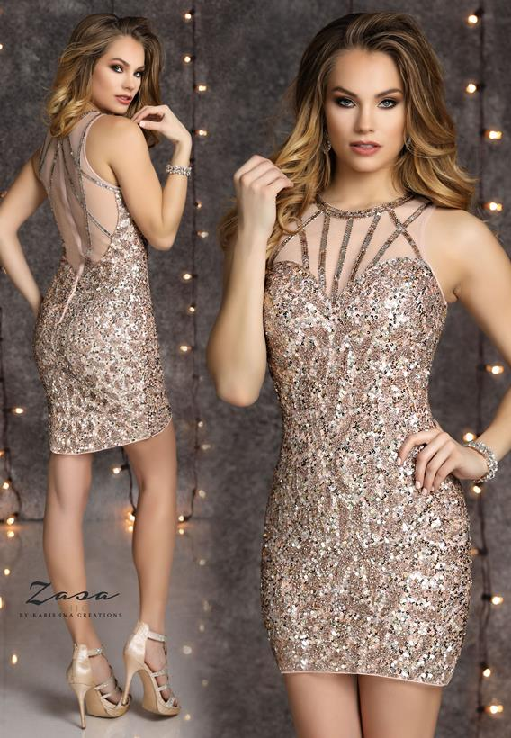 Beaded Tulle Blush K2122