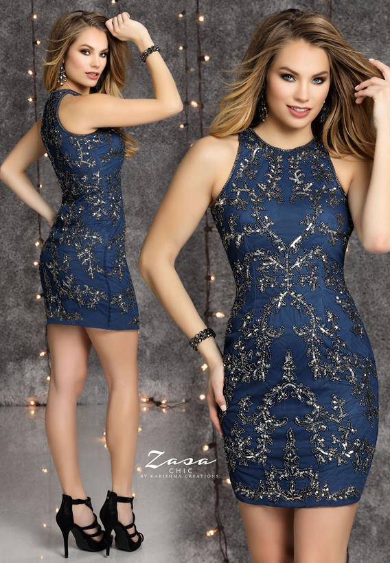 Beaded Tulle Navy,Gunmetal K2126