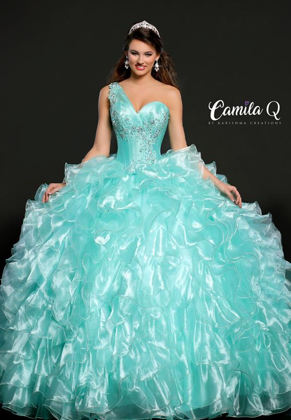 BEADED ORGANZA SEA FOAM,CORAL Q17101