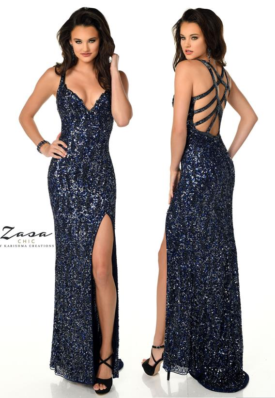 Beaded Tulle Champagne,Midnight Z2063