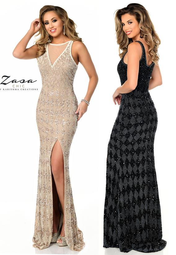 Beaded Tulle Black,Gunmetal,Beige Z2070